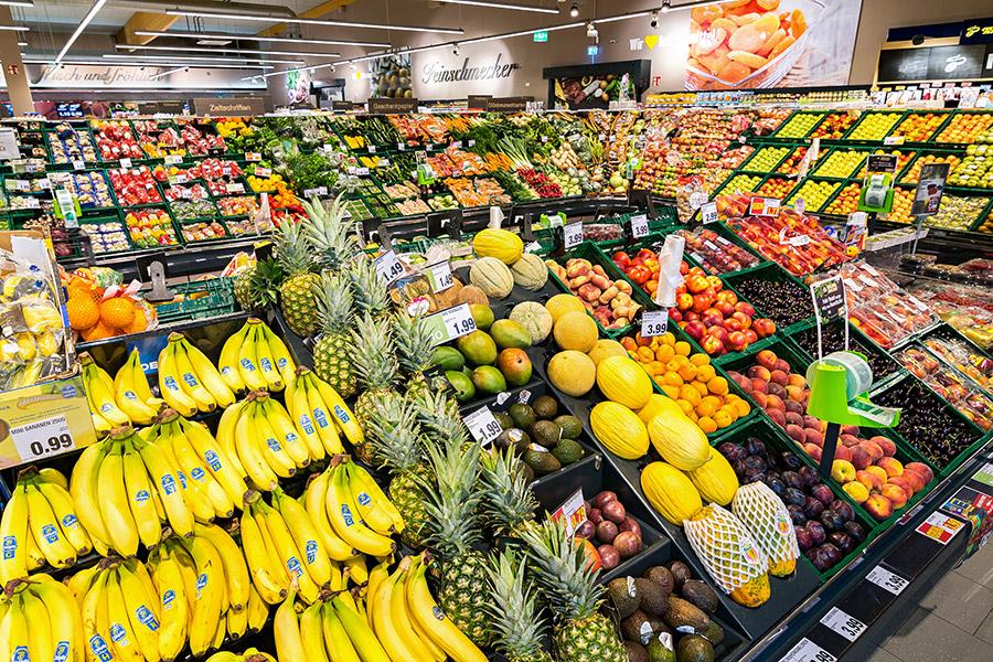 Frisches Obst und Gemüse